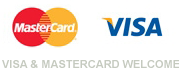 Visa & MasterCard welcome